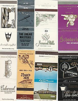 Lot Of 18 Different Missouri Matchbook Covers.  #4