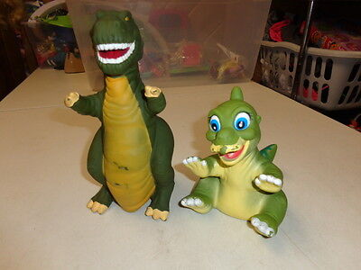 Land Before Time   Dinosaur   Rubber Hand Puppets  T Rex & Friend