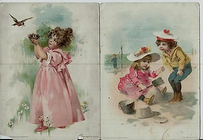(4) Lion Coffee Woolson Spice Co Toledo OH 1893 Trade Cards