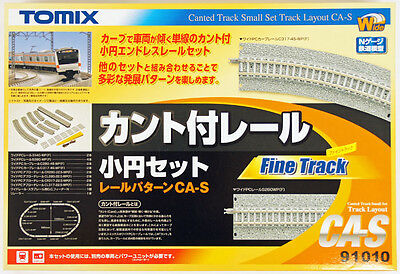 Tomix 91010 Canted Track Small Oval Set Layout Pattern CA-S (N scale)