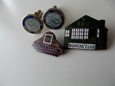 Early 3BO Radio (Bendigo) Smile Club, Women's Club & Uncle Bobs Club Badges