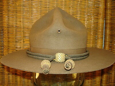 Wwi U.s. Officer's M1911 Campaign Hat With Bullion Cord