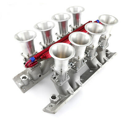 fit Chevy BBC 454 Downdraft EFI Stack Intake Manifold System Complete Satin