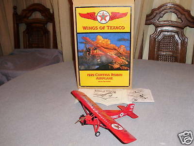 Wings Of Texaco 1929 Curtiss Robin Airplane Diecast Bank # 6 New In Original Box