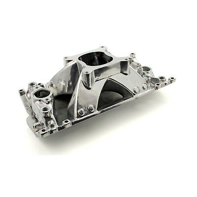 Chevy SBC 350 Shootout +Plus Vortec High Rise Intake Manifold Polished