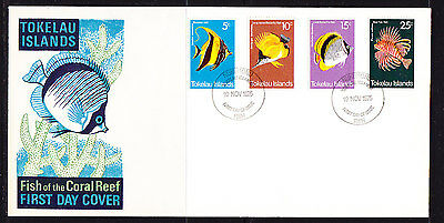 Tokelau Islands 1975 Fish  First Day  Cover - Unaddressed