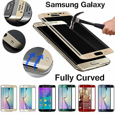 Fully Curved 3D Tempered Glass Screen Protector For Samsung Galaxy S6 S7 Edge +