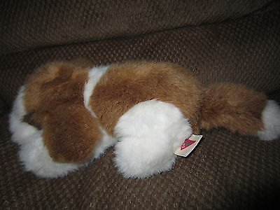 "DAKIN 1990 puppy dog BROWN AND WHITE 10"" long EUC"