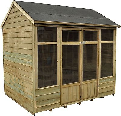Forest Wooden Apex Winchcombe Summerhouse Log Cabin - 8 x 6ft-From Argos on ebay