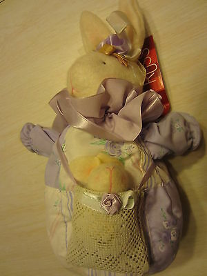 Russ Spring Bouquet Lavendette Momma Lavender Purple Easter Bunny Rabbit & Baby