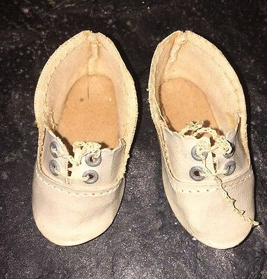 Antique Doll Shoes For Bisque Doll 2""