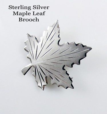 Boyd Bond Sterling Silver Maple Leaf Brooch