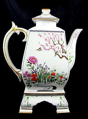 Birds & Flowers of the Orient Porcelain Coffee Carafe Franklin Mint