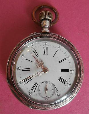 SALE  LOWER  PRICE /MAGNIFICENT  pocket watch, silver 0,800, cylinder 6 rubies
