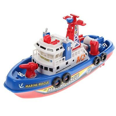 High Speed Music Light Electric Marine Fire Fighting Model Boat Toy Free Ship