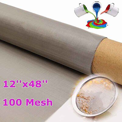 150 Micron Stainless Steel 100 Mesh 316 Filter filtration oil Screen 305x1220mm