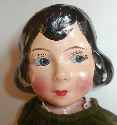 SALE  LOWER  PRICE /FABULOUS ANTIC French Poupard paper mache  CHARACTER  DOLL