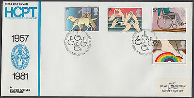 1981 Year of the Disabled HCPT(Handicaped Children's Pilgrimage Trust)FDC;scarce