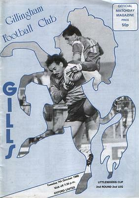 GILLINGHAM v OXFORD UNITED         League Cup            07.10.1986