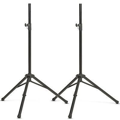 2 X SSM-100 Heavy Duty Steel DJ Disco PA Tripod Speaker Stand (Pair)
