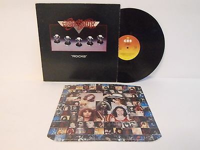 70s Heavy Rock AEROSMITH rocks 1976 UK Vinyl LP + Inner Mint