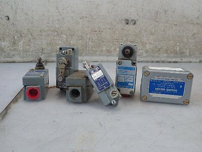 6 Assorted Limit Switches, Square D, Micro Switch,