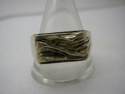 Vintage 925s Denmark Silver Modernist Ring size W by Larsson Smykkehandiere