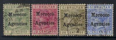 Morocco Agencies 1899 Optd Sg9-12 Used Cat £9+