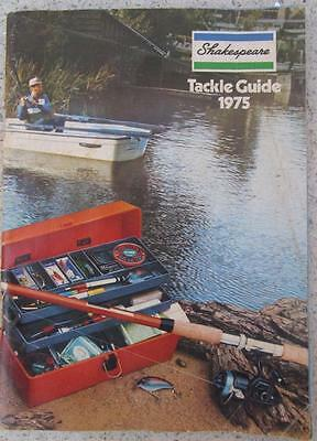 Shakespeare Fishing Tackle Catalogue Guide Advertising 1975