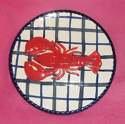 "Set of 4 HomeGoods 8.5"" Plates with Raised LOBSTER NEW"