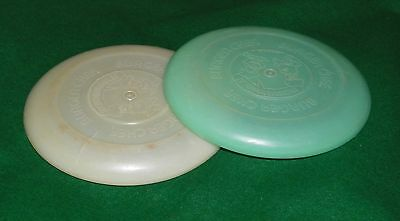 vintage  BURGER CHEF frisbee...lot of 2...BURGER CHEF and JEFF
