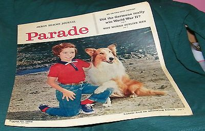 LASSIE cover and article 1959 Parade section Akron Ohio newspaper