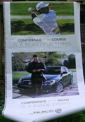 old TIGER WOODS / BUICK advertising sign
