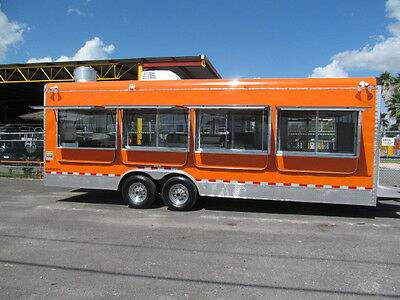 Big Orange Food Trailer Concession Truck Stand Cart Bbq Catering Must See This