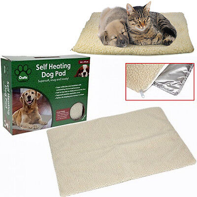 Crufts Self Heating Pet Blanket Pad Ideal For Dog Bed Super Soft Thermal Cushion