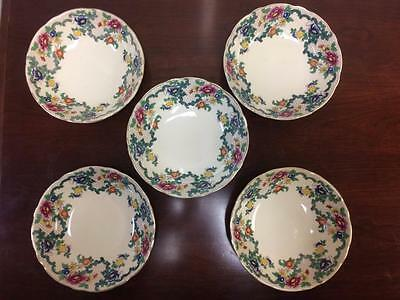 "Antique Vintage Royal Cauldon Flora Dora ""Victoria"" Patterned Small Bowls"