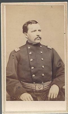 Civil War CDV Union Colonel Thomas Edward Chickering 3rd Mass Cavalry