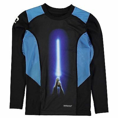 Star Wars Kids Baselayer Top Junior Boys Breathable Mesh Long Sleeve Crew Neck