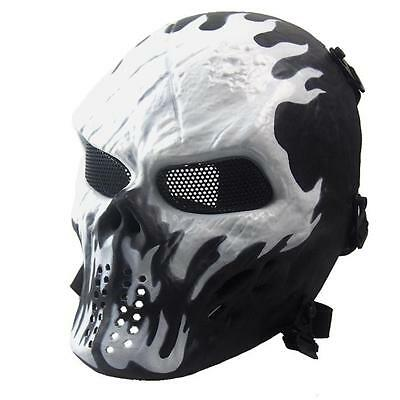 Airsoft Paintball Halloween Full Face Skull Skeleton CS Mask Tactical Military