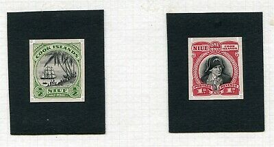 Niue Pacific Die Proofs Captain Cook Perkins Bacon 1932