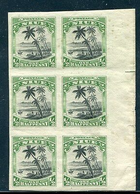Niue Pacific Imperforate Plate Proof Block Captain Cook 1920