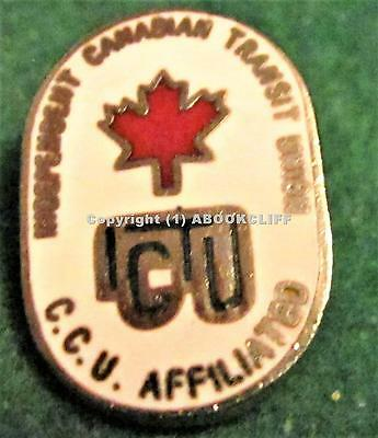 Independient Canadian Transit Union Ictu British Columbia Canada Pin Mint