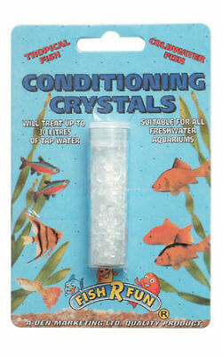 Fish R Fun Water Conditioning Crystals 12g Tapsafe Treatment Chlorine Tanks