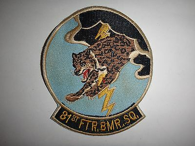 US Air Force 81st FIGHTER BOMBER SQUADRON Circa 1950's Patch