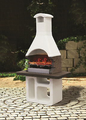 Banquet Rio Masonry Charcoal BBQ Garden Outdoor Cooking Smoker Grill Barbecue