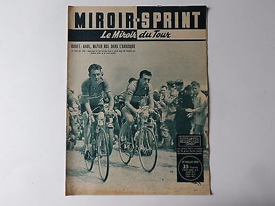 *Rare Vintage 1950s 'MIROIR-SPRINT' - French Cycling Magazine - 27 July 1955*