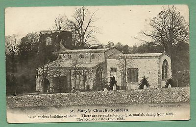 Souldern Church Oxfordshire postcard Morland Series printed not used