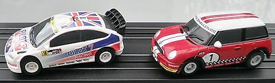 Micro Scalextric Cars Ford Focus and Mini Lot2