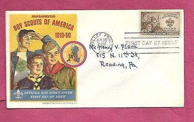 1950-First Day Cover-Boy Scouts-Valley Forge, Pennsylvania