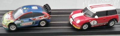 Micro Scalextric Cars Ford Focus and Mini Lot3
